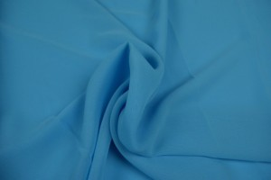 Chiffon 06 aqua blauw