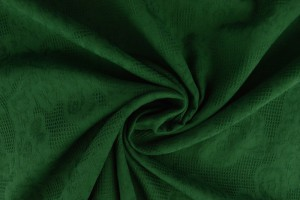 Katoen jacquard 32 donker groen