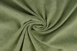 Katoen jacquard 34 oud groen