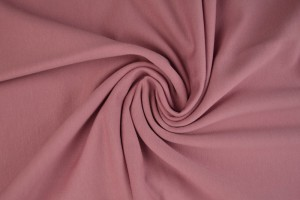 French terry 38 donker oud roze
