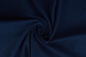 Gewassen denim stretch - 01 - indigo blauw