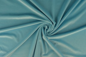 Fluweel 06 aqua blauw