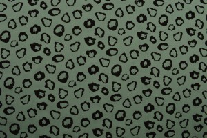 Cotton washed print 01-34 oud groen