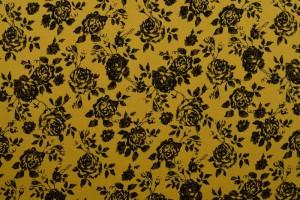 Cotton washed print 03-47 okergeel