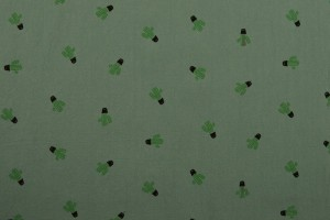 Cotton washed print 07-34 oud groen