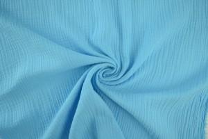 Mousseline 06 aqua blauw
