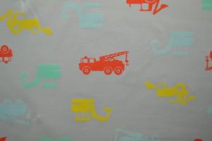 Cotton jersey print - wow 02-25 zilvergrijs