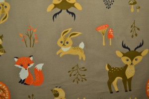 Cotton jersey print - wow 05-69 taupe