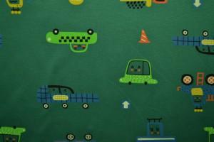 Cotton jersey print - wow 01-32 groen