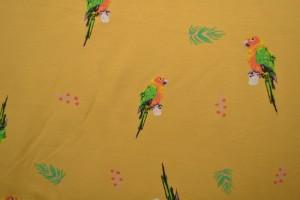 Cotton jersey print - wow 04-47 okergeel