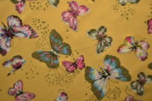 Cotton jersey print - wow 17-47 okergeel