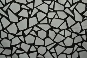 Cotton jersey print - wow 19-25 zilvergrijs