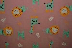 Cotton jersey print - wow 06-37 oud roze