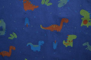 Cotton washed print w01-15 blauw