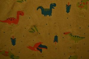Cotton washed print w01-44 donker okergeel