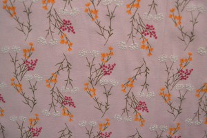 Cotton washed print w02-04 baby roze
