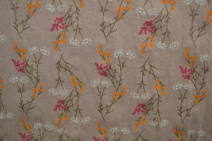 Cotton washed print w02-19 oud roze