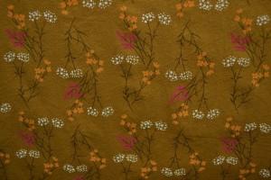 Cotton washed print w02-44 donker okergeel