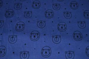 Cotton washed print w03-15 blauw