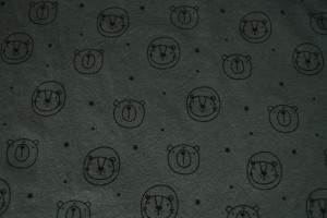 Cotton washed print w03-17 donkergrijs