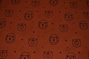 Cotton washed print w03-42 koper