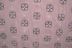 Cotton washed print w04-04 baby roze