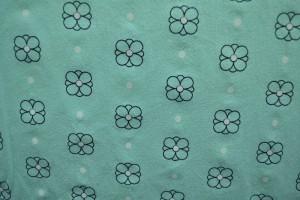 Cotton washed print w04-05 baby blauw