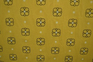 Cotton washed print w04-47 okergeel
