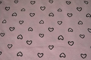 Cotton washed print w05-04 baby roze