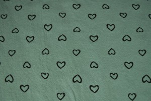 Cotton washed print w05-34 oud groen