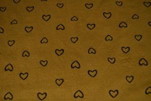 Cotton washed print w05-44 donker okergeel