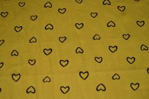 Cotton washed print w05-47 okergeel