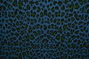 Cotton washed print w06-138 staalblauw