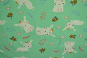 Cotton jersey print - wow 21-01 mint groen