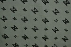Cotton jersey print - wow 28-01 grijs