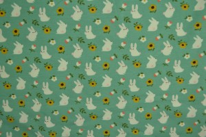 Cotton jersey print - wow 31-01 turquoise groen