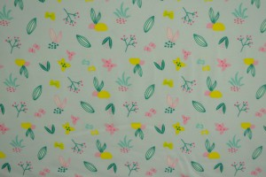 Cotton jersey print - wow 37-01 zilvergrijs