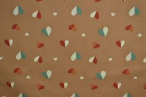 Cotton jersey print - wow 40-01 taupe
