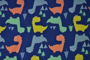 Cotton jersey print - wow 45-01 blauw