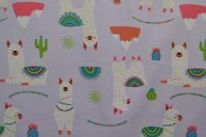 Cotton jersey print - wow 65-21 lavendel