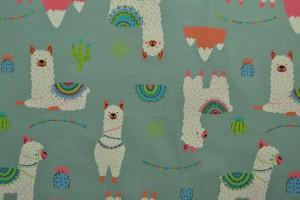 Cotton jersey print - wow 65-34 oud groen
