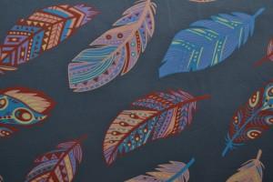 Cotton jersey print - wow 61-17 donkergrijs