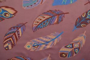 Cotton jersey print - wow 61-38 donker oud roze