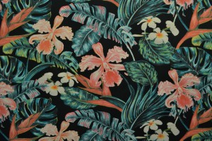 Cotton jersey print - wow 60-03 zwart