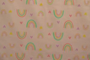 Cotton jersey print - wow 58-04 baby roze