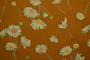 Cotton jersey print - wow 55-44 donker okergeel