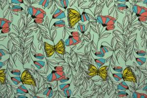 Cotton jersey print - wow 53-41 mint groen