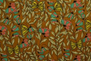 Cotton jersey print - wow 53-44 donker okergeel