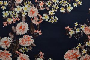 Cotton print 8005-3 navy